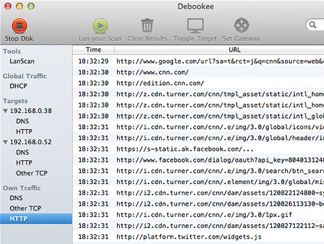 Packet capture real-time analysis on Mac OS X